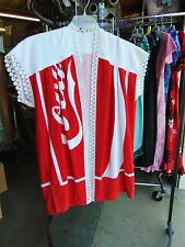 VINTAGE Coca Cola Pool-Side Beach Terry Towel Swimming Suit COVER UP  L   #624