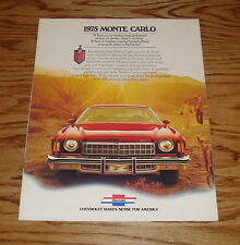 Original 1975 Chevrolet Monte Carlo Sales Brochure 75 Chevy