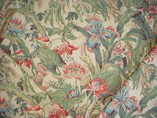 12Y WAVERLY TIBERIUS GRANDEUR COLLECTION FLORAL COTTON DRAPERY UPHOLSTERY Fabric