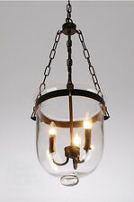 Glass Lantern Pendant Pottery Barn Style Chandelier Candle Dining Light Fixture