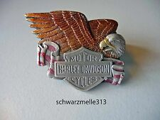 HARLEY DAVISON-Oldschool Bar & Shield-EAGLE-Pin Nuovo