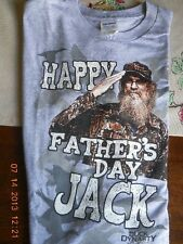Duck Dynasty T SHIRT Grey Happy Father Jack Day Uncle Si  size MEDIUM M GILDAN