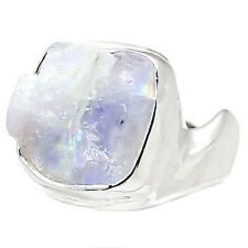 Rainbow Moonstone Rough 925 Sterling Silver Ring Jewelry S.6.5 RMRR204 RMRR204