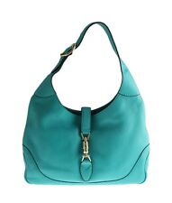 Gucci New Jackie Blue Leather Shoulder Bag