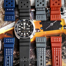2x 22mm rubber M22 waffle strap SEIKO 200m 150m diver-SPECIAL PROMO(any 2 colors