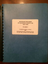 Davidson County, NC, Marriage Records, 1927-1939, Vol. 5, Genealogy Resource