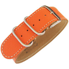 22mm Fluco Germany 1-Piece Mens Orange Leather UTC Military G10 Watch Band Strap