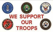 WE SUPPORT OUR TROOPS 3 x 5 FLAG FL291 military flags 3x5 banners marines navy
