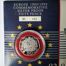 Royal Nuovo di zecca/Royal Mail 1992/1993 UE ARGENTO PROOF 50p COIN COVER - 1 di solo 500