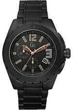 BRAND NEW GUESS COLLECTION GC X76009G2S BLACK CERAMIC CHRONOGRAPH MEN'S WATCH