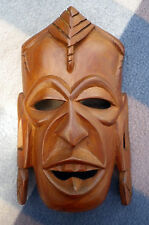 Vintage Masai Kenyan Mask - Hand Carved Wood - Ethnic Tribal Art