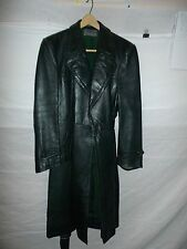 zg6 WWII German Leather Overcoat Size 32 Length 47
