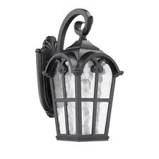 Chloe Transitional 1-light Black Outdoor Clear Glass Wall Fixture