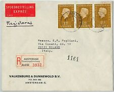 58204 -  NETHERLANDS - POSTAL HISTORY: REGISTERED COVER to ITALY - 1974
