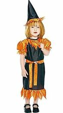 Toddler Orange Witch Halloween Costume 2-4 New!