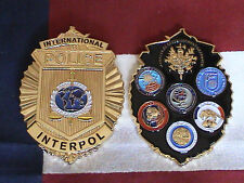 "Intelligence Agency's Logos of France & Interpol CoinBadge 3"" 3D Coin"