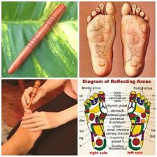WOODEN STICK THAI FOOT MASSAGE TOOL REFLEXOLOGY RELAXTHERAPYTRADITIONAL MASSAGER