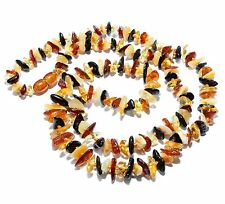 Genuine Natural Baltic Amber Necklace for Adult Mixed Color 70 cm