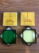 "2- Kodak Wratten Filters 3"" In Green And Yellow"