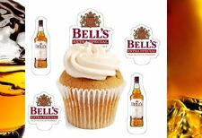 bells whiskey bottle x24 edible stand up cup cake toppers wafer paper pre-cut