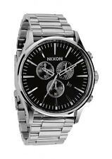 **BRAND NEW** NIXON WATCH THE SENTRY CHRONO BLACK A386000 NEW IN BOX!