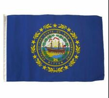 "12x18 12""x18"" State of New Hampshire Sleeve Flag Boat Car Garden"