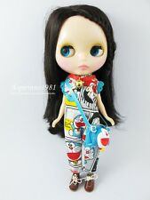 DORAEMON CARTOON PRINTED JUMPSUIT OVERALL BAG FOR NEO BLYTHE DOLL ASPIRINNO-225
