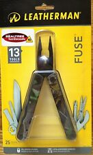 LEATHERMAN FUSE BLACK CAMO MULTITOOL MULTIPLIER NEW MINT CLAMPACKED REALTREE NEW