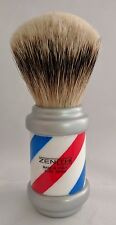 New! Zenith Barberpole Silvertip Badger Shave Brush. 26+mm. Made in Italy. P13