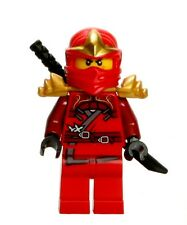 LEGO NINJAGO MINIFIGURE KAI ZX GOLD ARMOR SHAMSHIR SWORDS RED NINJA