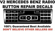 V2 Black Radio Stereo Button Repair Decals Stickers Repair MERCEDES BENZ