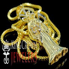 10K GOLD SANTISIMA MUERTE DEATH RIPPER ANGEL OF DEATH MINI PENDANT !! FREE CHAIN