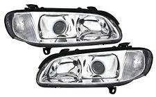 headlight set in clear chrome finish for Opel Omega B 94-99 with DE LENS