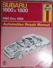 1980 thru 1989 Haynes Subaru 1600 & 1800 Automotive Repair Manual P/N's 89003