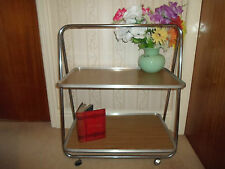 Shabby Chic Retro 1960s FOLDING Tea Trolley+Wheels~Great for Cakes ~ Cafe ~ Shop