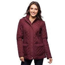 $195 - TOMMY HILFIGER Women's 'QUILTED' Zinfindel STAND-UP COLLAR JACKET - Small