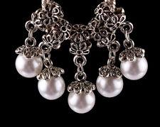 5pcs Tibetan silver pearl pendant spacer beads fit Charm European Bracelet PL519