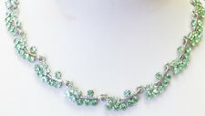 Peridot austrian crystals necklace 16in