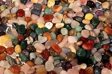 """5 lbs Tumbled Polished Gem Stones- Approx.5/8-7/8"""" Over 400 pcs Wholesale Lot"""