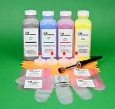 HP 2550 2550L 2550Ln 2550n 4-Color Toner Refill Kit w/ Hole-Making Tool & Chips