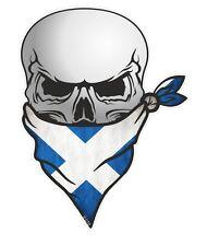 Cranio con Bandana Viso & Decusse Scozia Bandiera Scozzese Auto Adesivo Vinile Decalcomania