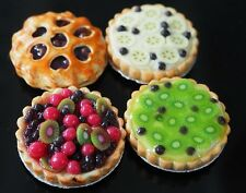 DOLLHOUSE MINIATURES 4 FRUIT PIES BAKERY PARTY FOOD SUPPLY DESSERT SWEET 1:12