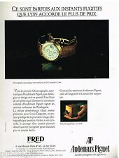 Publicité Advertising 1988 la Montre Chronographe automatique Audemars Piguet