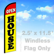 Flag Only 2.5' WINDLESS Swooper Feather Banner Sign - OPEN HOUSE yf