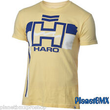 HARO BMX Retro T-SHIRT Yellow w/ blue logo ADULT 2X-LARGE old-school vintage 2XL