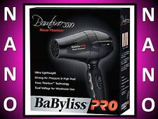 BABYLISS PRO NANO TITANIUM 1000 WATT 2 HEAT BAMBINO 5510 TRAVEL HAIR BLOW DRYER