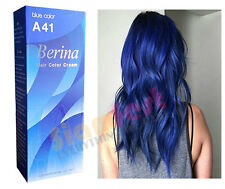 Berina Permanent Color Hair Dye Cream Blue # A41 Free Shipping!!