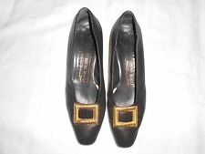 BRUNO MAGLI Shoes Gold Buckle Sz 37.5 or 7.5