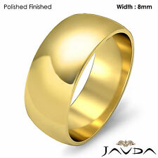 Solid 18k Gold Yellow Dome Mens Wedding Band High Polish Ring 8mm 10.1gm 11-11.7