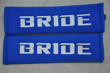 NEW Blue Seat Belt Cover Shoulder Pads Pairs with Embroidery Bride Racing Logo